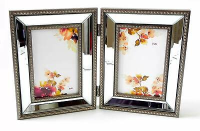 2 Photo Picture Frames With Elegant Curved Glass. New