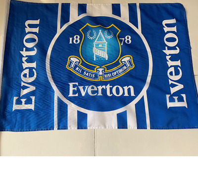 Everton FC 2ft x 3ft Flag on Stick - Official Football Merchandise