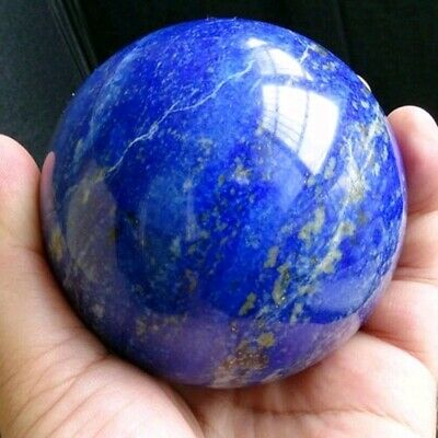 40MM Rare Natural Lapis Lazuli Crystal Ball Healing Sphere Gemstone + Stand