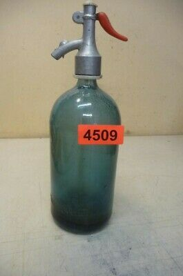 4509. Alte Sodaflasche  Siphonflasche 1 L  Old Soda Siphon Seltzer Bottle