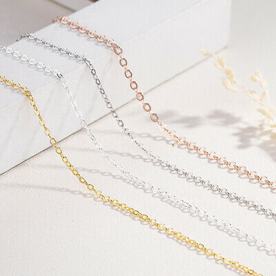1/ 1.5/2mm Gold Stainless steel Cable Chains Necklace Wedding Fashion DIY Chain