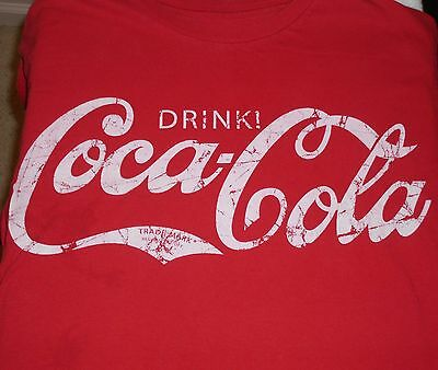 "Coca-Cola - ""Drink! Coca-Cola"" retro logo t-shirt - M size - Medium - Coke"
