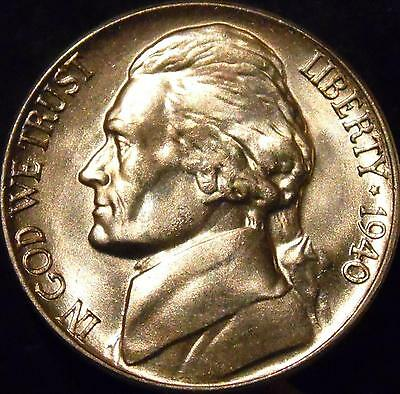 1940-D Jefferson Nickel Gem BU Uncirculated Full Step Full Steps