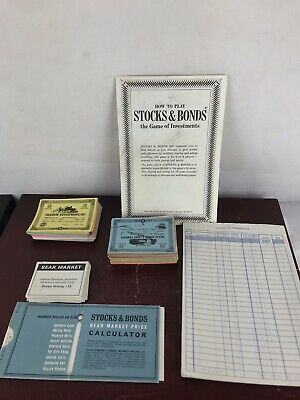 Vintage 3M Bookshelf Stocks & Bonds Board Game 1964 / Replacement