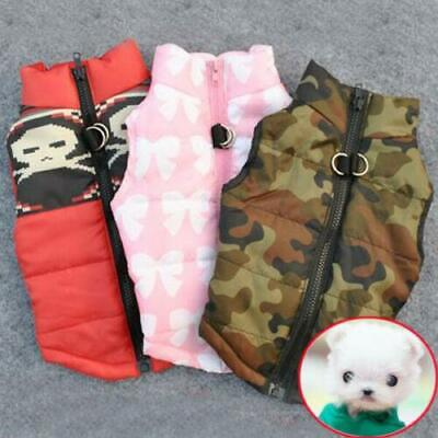 Winter Small Pet Dog Soft Padded Vest Coat Cat Puppy Dog Warm Jacket Clothes