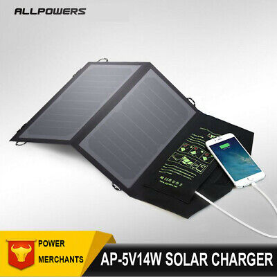 ALLPOWERS 10W/14W Portable Highly Efficient Foldable And Waterproof Solar Panels