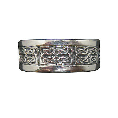 Sterling Silver Ring Celtic Knot Band Genuine Solid Hallmarked 925 9mm Wide