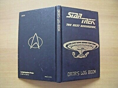 "STAR TREK  ""The next generation""  DATA'S LOG BOOK - MADE IN U.S.A. 1992"