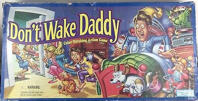 VINTAGE 1992 Don't Wake Daddy Board Game Complete Bed Cards Color Matching