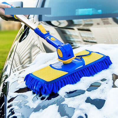 Car Wash Brush Cleaning Mop Chenille Broom Telescoping Handle Car Cleaning