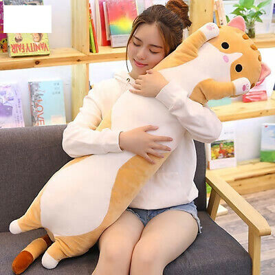 70 Cm Cute Stretched Cat Sleeping Long Plush Pillow Cushion