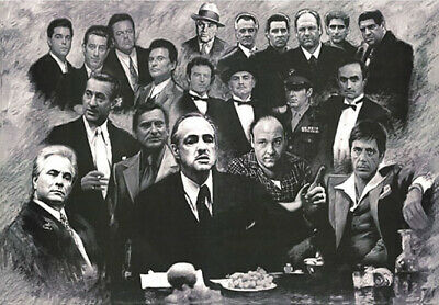 HY1660 Art Poster Gangsters Godfather Goodfellas Scarface AL PACINO Deco Print
