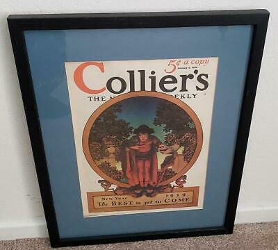 Maxfield Parrish Original Colliers Magazine Cover The End January 5, 1929