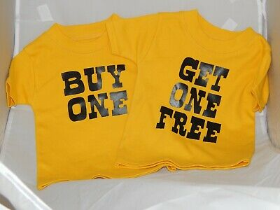 Funny Twins T Shirt Buy One Get One Free age 3-6 months
