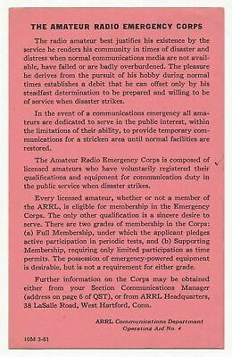 The Amateur Radio Emergency Corps, American Radio Relay League