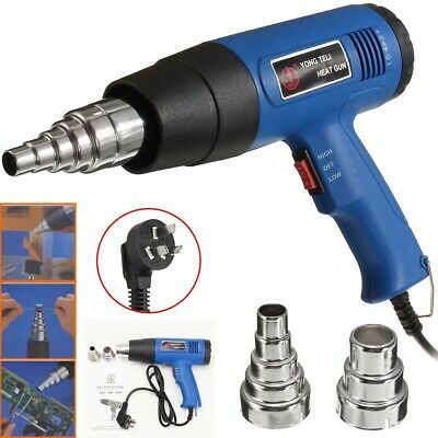 220V 1800W 600 Hot Air Heat Blower Paint Drying Striping Tool with 2 Nozzles