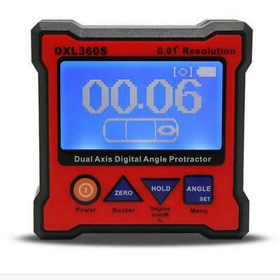 DXL360S High-precision Dual Axis Digital LCD Angle Protractor Dual-axis Angle Le