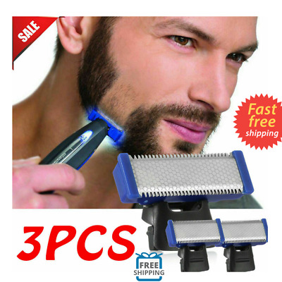 3x Double-sided Shaver Blade Replacement Head For Microtouch Solo Electric Razor