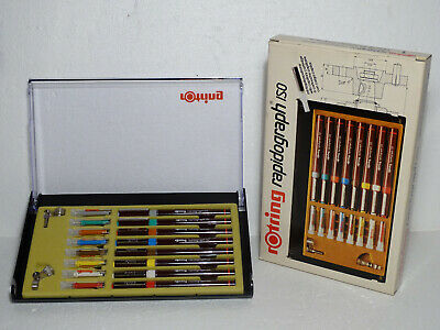 ------- ROTRING COLLEGE SET - RAPIDOGRAPH ISO - Tuschefüller 8er Set NEW -------