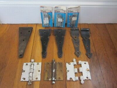 "Antique Vtg Iron Gate 8"" Strap Hinges Farm Barn Door Old Architectural & Extras"