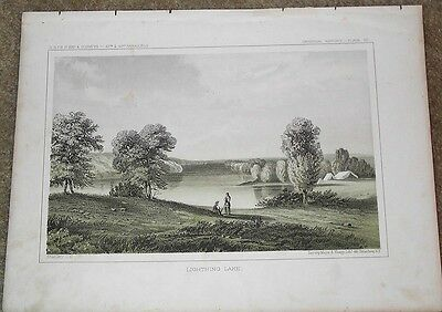 c1855 tinted lithograph Plate IV LIGHTNING LAKE - Explorations for Pacific RR