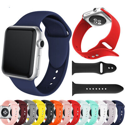 38/40/42/44mm Silicone Bracelet Strap Band For Apple Watch iWatch Sports 4/3/2/1