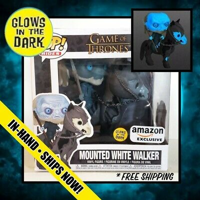 Funko PoP (GITD) MOUNTED WHITE WALKER Amazon Excl. GLOW Game of Thrones IN HAND