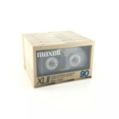 6 Maxell XLII 90 Pure Epitaxial Cassette Tapes Type II High Bias XL2 Japan