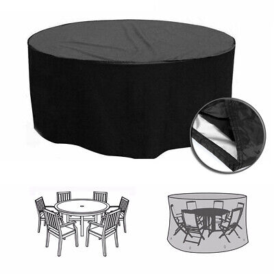 Protective Outdoor Garden Patio Set Heavy Duty Furniture Table Chair Cover Round