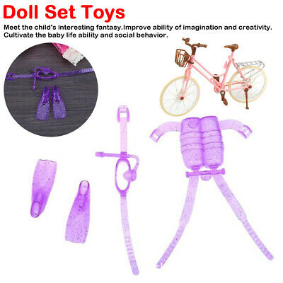 4pcs/Set Kids Diving Clothes Shoes Glasses Kit For Outfit Toy Dolls Accessories