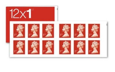 Brand New Unused Royal Mail 1st class Stamps Book of (12x50) 600 Letter Stamps