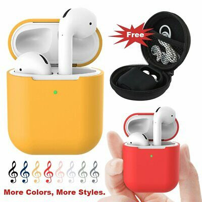 For Apple Airpods Case Cover LED Visible Airpod 2nd Generation Charging Box Skin