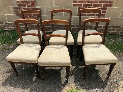 Decorative Set Of Six Good Looking Antique Victorian Mahogany Dining Chairs