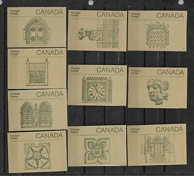 pk45398:Stamps-Canada Lot of 10 #BK92b Parliament Booklet Set of 10 - MNH