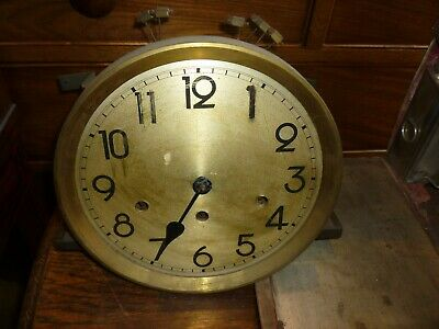1930s Grandfather Clock Spring Driven Westminster Chime Movement+9.5ins Dial