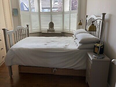 "1940s ""Arts & Craft / Art Deco"", solid oak double bed"
