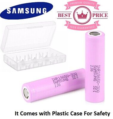 SAMSUNG (2PCS) 18650 Lithium 30Q 3000mAh 15A Li-ion Vape Batteries 100% Genuine
