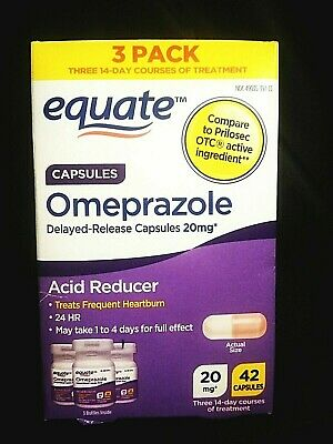 TRIPLE PACK..EQUATE..20mg OMEPRAZOLE..ACID REDUCER.07/2020 READ ALL