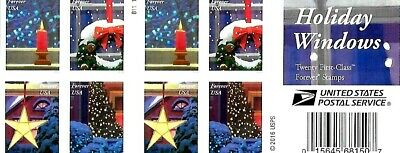 Holiday Windows Stamp Booklet Usa #51445-#5148 Forever 2016 Doubled Sided Book