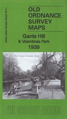 Old Ordnance Survey Map Gants Hil & Valentines Park 1939
