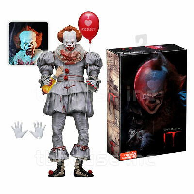 """Pennywise The Scary Clown 2017 IT Bloody Edition 7"""" Action Figure Blemished Box"""