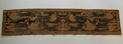 Antique 19Th Century Fine Old Antique Chinese Painting Dragon Boat Ship Nautical