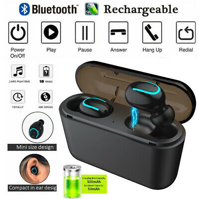 Wireless True Bluetooth 5.0 Headphones TWS Mini Earphones In Ear Stereo Headset