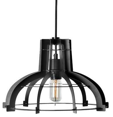 "Large Black Iron Industrial Pendant Light - 20"" Diameter"