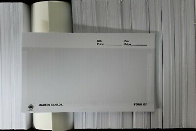 "CKStamps: 107 Dealer Cards - White (Box of 1000),Dimensions: 5 3/8""W x 3 1/4""H"