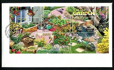 2019 In The Garden (SCM) Stamp Collecting Month (Mini Sheet) FDC