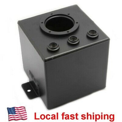 POLISHED 2.5L 0.66 GALLONS Dome Alloy Fuel Surge Tank Fuel Pump AN8 Fittings