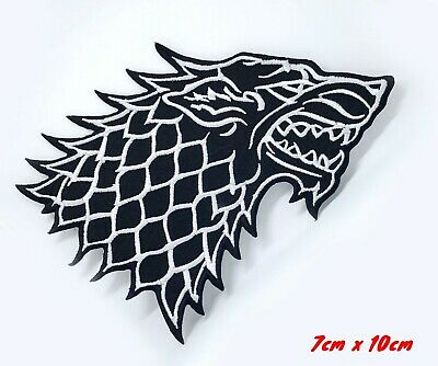 Game of Thrones stark family dire wolf Iron on Sew on Embroidered Patch