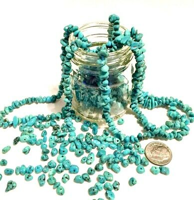 20 Turquoise BEADS Campitos Nugget Lot NATURAL Drilled Genuine Polished Gemstone