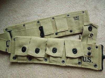 .30 M1 Garand Greenish Khaki Color WW2 Type 10 Pocket Cartridge Belt .3006 NEW